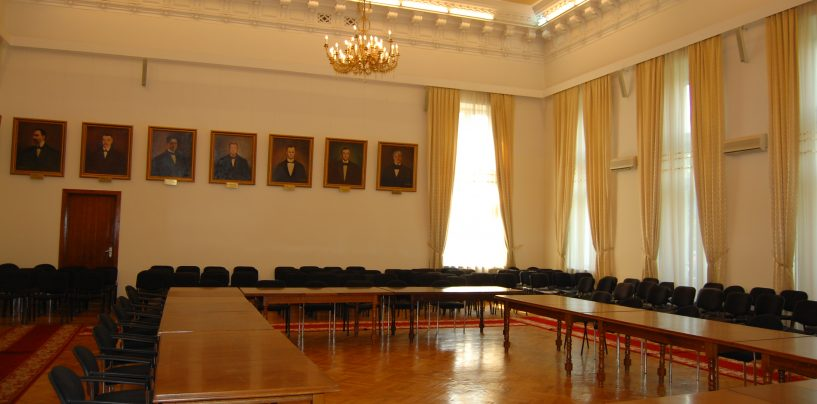 Şedinţă extraordinară cu sala goală