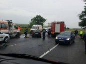 Accident mortal: un tir a spulberat trei maşini