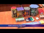 Artificii confiscate de poliţiştii ieşeni