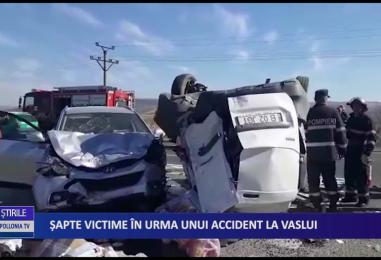 Şapte victime în urma unui accident la Vaslui