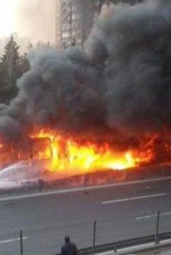 Panică la Botoșani! Un tramvai a luat foc în mers