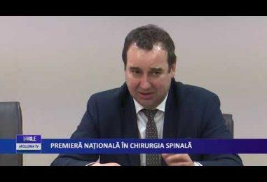 Premieră naţională in chirurgia spinală