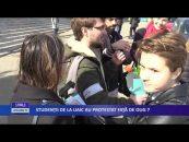 Studenţii de la UAIC au protestat faţă de OUG 7