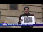 Protest la universitatea ministrului Justiţiei