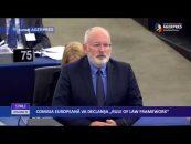 """COMISIA EUROPEANĂ VA DECLANŞA """"RULE OF LAW FRAMEWORK"""""""