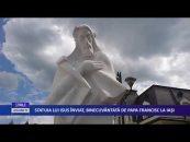 Statuia lui Iisus Înviat, binecuvântată de Papa la Iaşi