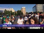 ACTORI ȘI ARTIȘTI AU PROTESTAT FAȚĂ DE TĂIERILE BUGETARE DIN CULTURĂ