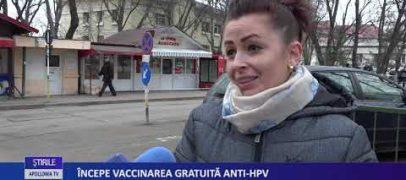 ÎNCEPE VACCINAREA GRATUITĂ ANTI-HPV