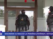Descinderi cu mascați la primăria Ștefănești