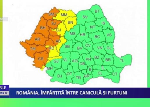 România, împărțită între caniculă și furtuni