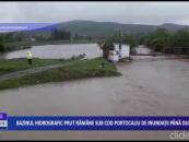 Bazinul hidrografic Prut rămâne sub cod portocaliu de inundații