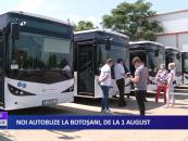 Noi autobuze la Botoșani de la 1 august