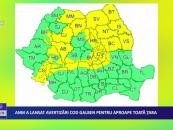 ANM a lansat avertizări Cod galben pentru aproape toată țara