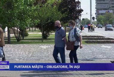 Purtarea măștii, obligatorie la Iași