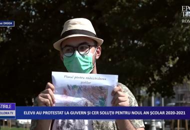Elevii au protestat la Guvern și cer soluții pentru noul an școlar 2020-2021