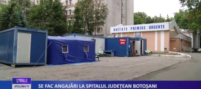 Se fac angajări la Spitalul judetean Botoșani