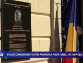 Placă comemorativă în memoria prof. univ. dr. Mircea Rusu