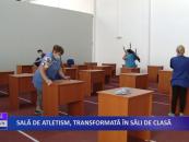 Sală de atletism, transformată în săli de clasă