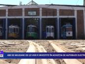 480 de milioane de lei vor fi investite în achiziția de autobuze electrice