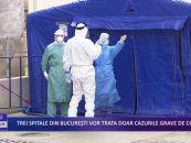 Trei spitale din București vor trata doar cazurile grave de Covid-19