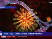 SARS-COV 2 are o mutație mai contagioasă