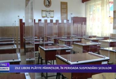 Zile libere plătite părinților în perioada suspendării școlilor