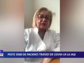 Peste 3500 de pacienți tratați de CoViD-19 la Iași