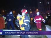Bloc evacuat din cauza unui incendiu