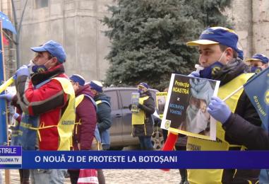 O nouă zi de proteste la Botoșani