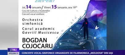 """Concerte vocal-simfonice organizate de Filarmonica """"Moldova"""" din Iași"""