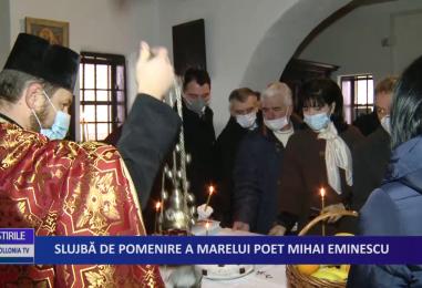 Slujba de pomenire a marelui poet Mihai Eminescu