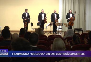 Filarmonica Moldova din Iași continuă concertele