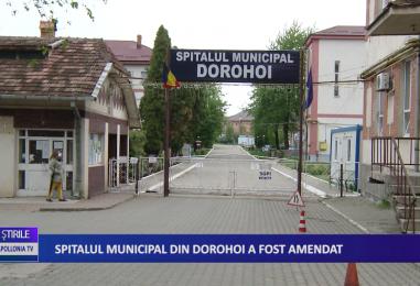 Spitalul Municipal din Dorohoi a fost amendat