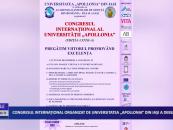 """Congresul internațional organizat de Universitatea """"Apollonia"""" din Iași a debutat"""