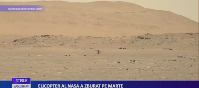 Ingenuity, elicopterul NASA, a zburat pe Marte