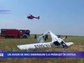 Un avion de mici dimensiuni s-a prabusit in Chitila