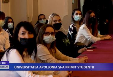 Universitatea Apollonia si-a primit studentii