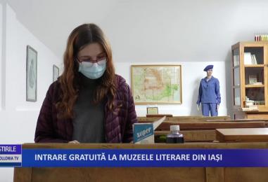 Intrare gratuita la muzeele literare din Iasi