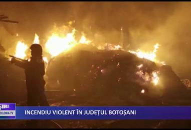 Incendiu violent in judetul Botosani